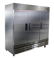cu ft 3 door commercial cooler