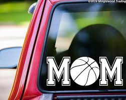 Basketball Mom Custom Vinyl Decal Sticker 11 X 4 25 Ball Hoops Sports Minglewood Trading