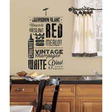 Roommates 5 In X 11 5 In Wine Lovers Peel And Stick Wall Decal Rmk2649scs The Home Depot