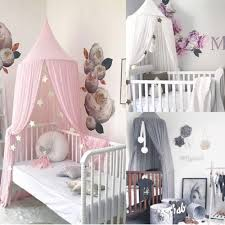 1pc Baby Lace Crib Tent Hung Round Dome Bed Netting Bed Curtain Mosquito Net Kids Room Decoration 240x260cm Walmart Com Walmart Com