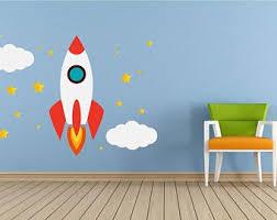 Rocket Wall Decal Etsy