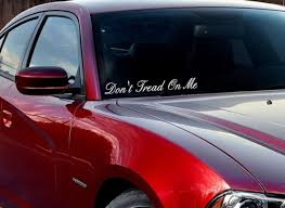 Buy Windshield Don T Tread Me Gadsden Flag Usa South Rebel Vinyl Decal Car Any Color