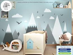 Mountains Wall Decal Nursery Mountains Huge Stickers Entire Wall Vinyl Sticker Wall S Tale Wall Decals Turkey