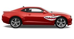 Custom Wall Decals Stickers Vinyl Wall Murals Sign Shop Car Decals Shark Teeth Car