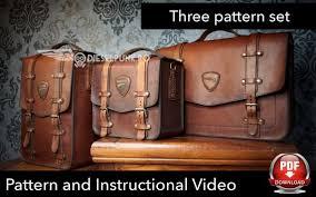 leather bag pattern pattern set