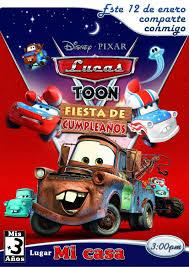 3 Anos Maravillosos Happybirthday3 Cars Carstoon Mate Disney