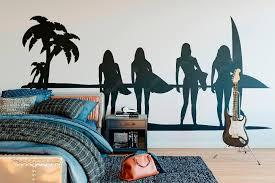 Sunset Ocean Surf Girl Summer Wall Decal For Surfers Wall Decal Bedroom Living Room Decor Removable Vinyl Art Wall Sticker B134 Wall Decals Art Wall Stickerwall Sticker Aliexpress