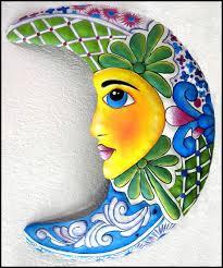 moon designs in hand painted metal