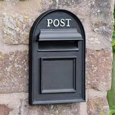 through the wall post box built in