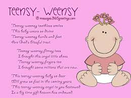 free sweet baby shower poems