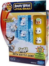 Star Wars Angry Birds Jenga Hoth Battle Game Hasbro Toys - ToyWiz