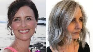 brown to natural gray hair