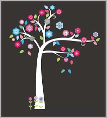 Girls Forest Wall Decals Pink Tree Decals Woodland Wall Decals Nurserydecals4you