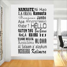 Hello Wall Decals Hello Languages Decal World Greetings Vinyl Art Decor Stickers House Ornament Living Room Modern Office A178 Wall Stickers Aliexpress