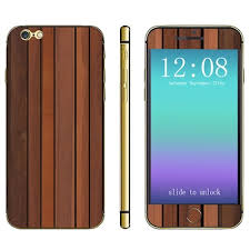 Wood Grain Pattern Design Phone Decal Skin Protective Full Body Sticker For Iphone 6 4 7 Inches Sale Price Reviews Gearbest Mobile