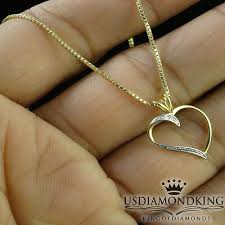 las pendant 10k yellow gold heart
