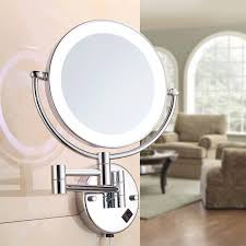 wall mounted lighted led swivel makeup
