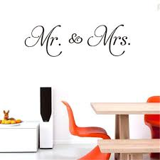 Amazon Com Mr Mrs Wall Sticker Franterd Love Letter Removable Wall Decal For Weding Family Mural Art Home Sofa Classroom Background Decoration Sports Outdoors