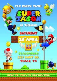 Super Mario Invitation Fiesta De Mario Fiesta De Mario Bros Invitaciones De Mario Bros