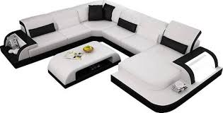 modern waves leather sectional sofa