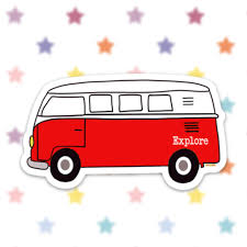 Bus Van Sticker Decal Vinyl Stickers For Laptops Car Decals Notebook Sticker Phone Sticker Hippie Bus Van Life Camping Explore