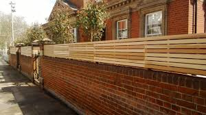 Slatted Panels Fixed To The Top Of A Wall Cedar Paneling Slatted Fence Panels Cedar Fence
