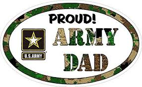 Amazon Com Vinyl Decal For Car Window Proud Army Dad Full Color Office Products