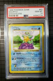 Unlimited Edition NM SQUIRTLE Pokemon Card Base Set Common 63/102 ...