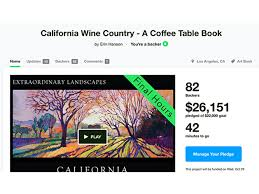 california wine country coffee table