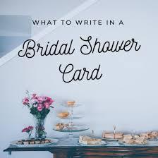 exle bridal shower card messages