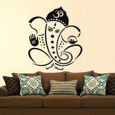 Buy Decals Design Pious Lord Ganesha Wall Sticker Pvc Vinyl 60 Cm X 60 Cm Black Online At Low Prices In India Amazon In