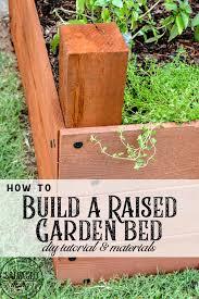 diy raised garden bed tutorial