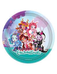 8 Platos Enchantimals 23 Cm