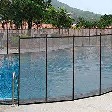 Amazon Com Giantex Pool Fence For In Ground Easy Diy Installation Pool Barrier Safety Mesh Fence 4footx48foot Swimming Pool Fence Black Garden Outdoor