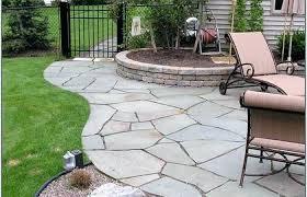 outdoor patio stone lawn