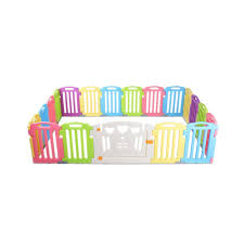 Cuddly Baby 19 Panel Plastic Baby Playpen Kids Toddler Fence