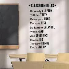 Classroom Rules Wall Decal Education Sticker Inspirational Vinyl Art Decor Wall Sticker Bedroom Home Decor Poster Lw680 Wall Stickers Aliexpress