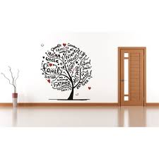 Custom Wall Decal Sticker Family Tree Grandma Grandpa Mother Father Aunt Uncle Daddy Brother Sister Parents Sweet Home 12x18 Walmart Com Walmart Com