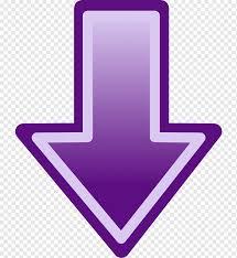 Arrow Symbol, down arrow, purple, violet, magenta png   PNGWing