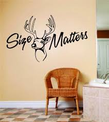 Size Matters Wall Letters Animal Picture Art Kids Room Bow Hunting Deer Moose Buck Hunter Wall Decal 8 X 16 Inches Walmart Com