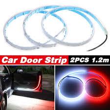 1 Pair 12v Car Door Warning Lamp Auto Door 144 Led Strip Light Universal Door Open Lights Strobe Safety Ambient Lamps 120cm Fexible Strips Wish
