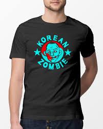 korean zombie black shirt