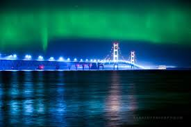 northern lights in pure michigan
