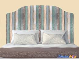 Distressed Colored Wooden Fence Headboard Decal Graphic Vinyl Sticker Bedroom Wall Home Decor