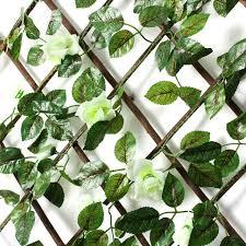 wooden trellis expandable plant wall