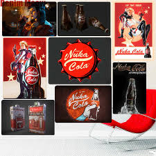 Nuka Cola Retro Metal Signs Bar Pub Decorative Plate Fallout Wall Stickers Game Lovers Art Tin Painting Vintage Home Decor N258 Plaques Signs Aliexpress