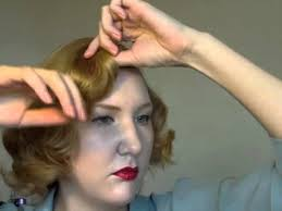 40s 50s short hair do using rollers