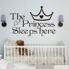 The Princess Sleep Here Wall Stickers For Kids Rooms Bedroom Wall Art Decals Ebay