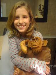 Abigail Sullivan with her pet monkey at the doctor's offic… | Flickr