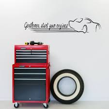 Gentlemen Start Your Engines Wall Decals Wall Decor Stickers